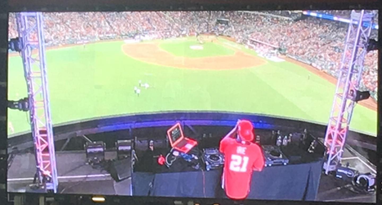 DJ Pumps up Crowd
