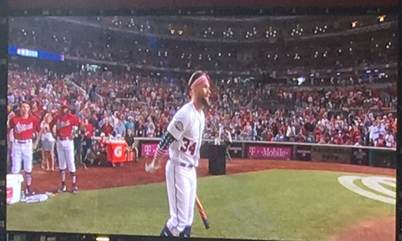 Harper Pumping Up Crowd