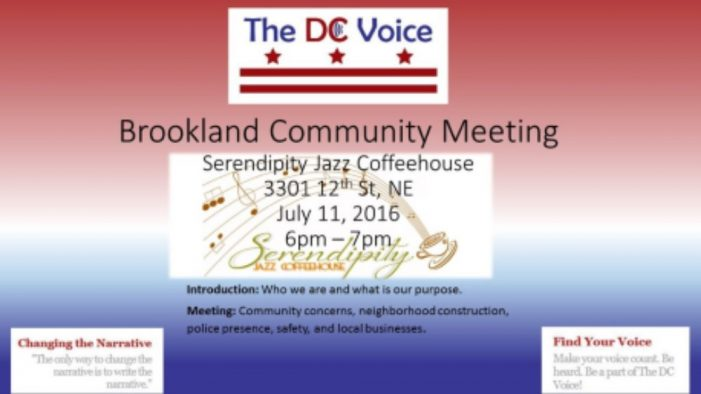 Brookland Community Meeting