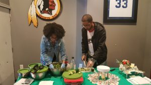 @thelifestyleshift mixing the Alive Salad